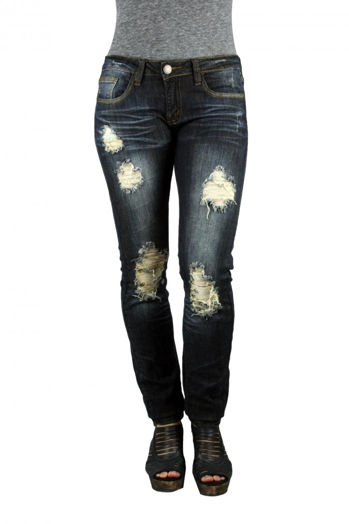 Distressed / Ripped Boyfriend / Mom Overalls & Flare Just Roll With It High Rise Distressed Jeans - Dark Denim. $ USD. NEW. NEW. QUICK VIEW. Look For Your Love Skinny Jeans - Dark Denim. $ USD. NEW. NEW. QUICK VIEW. Ask About Me Skinny Cargo Jeans - Dark Denim.